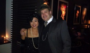 A gangster and his broad. (Thanks Jill!)