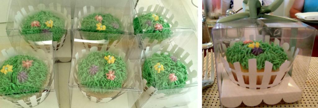Boxed up garden cupcakes