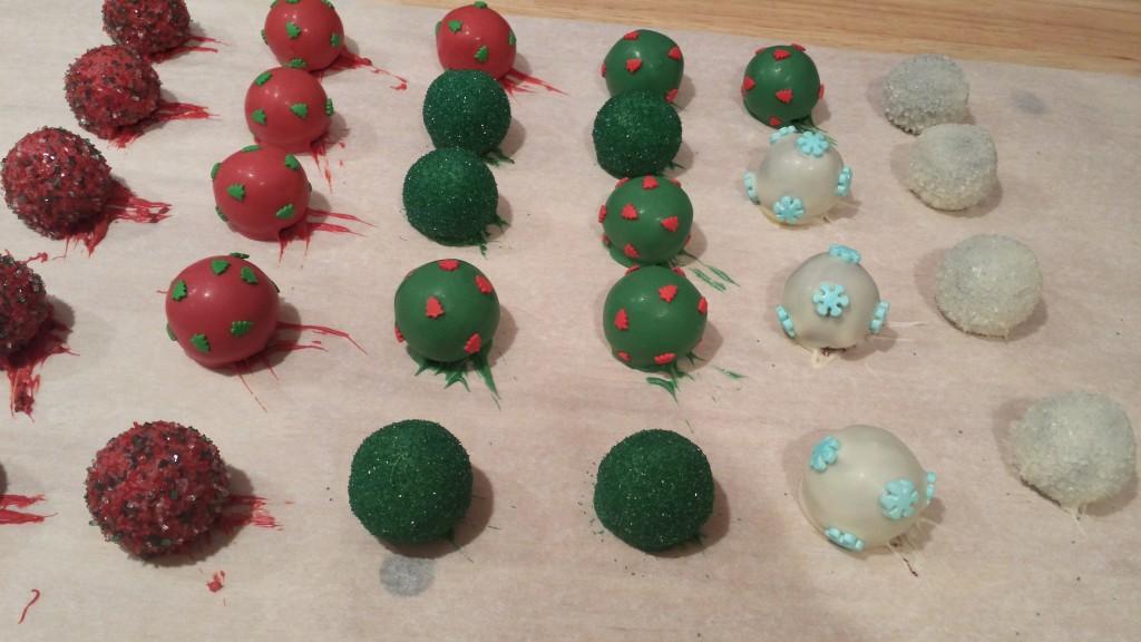 glittery Christmas cake balls