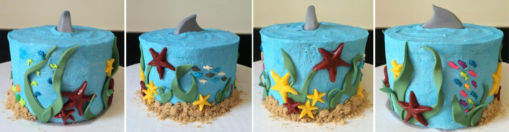 Underwater cake collage